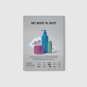 Backside ad for HeadBrands in Norwegian magazine Hair Magazine