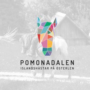 Logo and identity design for Pomonadalen horse riding