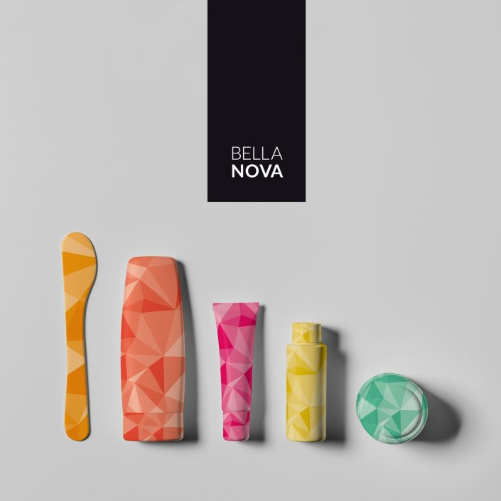 Graphic identity for beauty brand Bella Nova.
