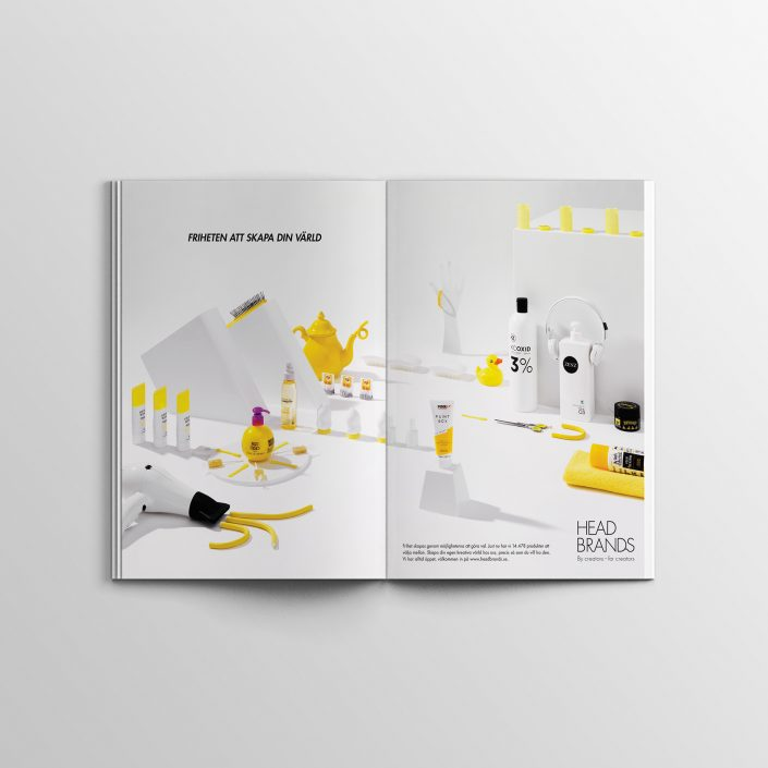Ad for HeadBrands. Published in Hair Magazine (Sweden and Denmark) and the magazine Frisör. 2016.