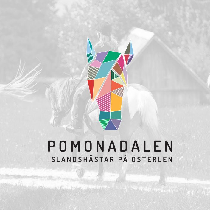 Logo and identity design for Pomonadalen horse riding